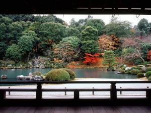 Garden of Tenryu-Ji Temple in Autumn, Kyoto, Japan