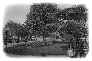 Gardens of the Hotel De Ville, Le Havre, Normandy, France, Early 20th Century