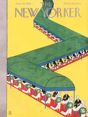 The New Yorker Cover - June 21, 1930 by Gardner Rea