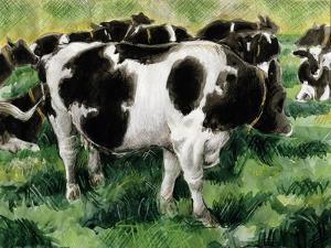 Friesian Cows by Gareth Lloyd Ball