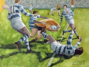 Rugby Match: Australia v Argentina in the World Cup, 1991 by Gareth Lloyd Ball