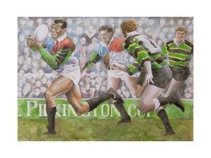 Rugby Match: Harlequins v Northampton, 1992 by Gareth Lloyd Ball