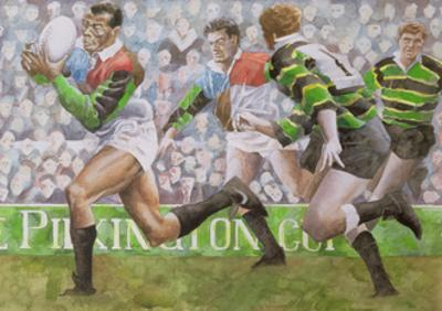 Rugby Match: Harlequins v Northampton, 1992 by Gareth Lloyd Ball