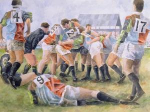 Rugby Match: Harlequins v Wasps, 1992 by Gareth Lloyd Ball