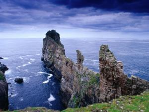 Coastal Rock Outcrops at Dun Balair, Tory Island, Ireland by Gareth McCormack