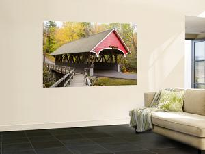 Covered Bridge over Pemigewasset River, White Mountains by Gareth McCormack