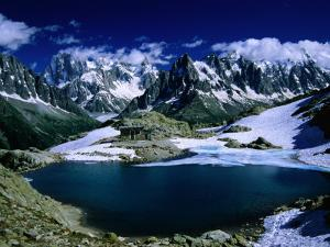 Lac Blanc and Mont Blanc Massif on the Tour Du Mont Blanc, Haute Savoie, Mont Blanc, France by Gareth McCormack