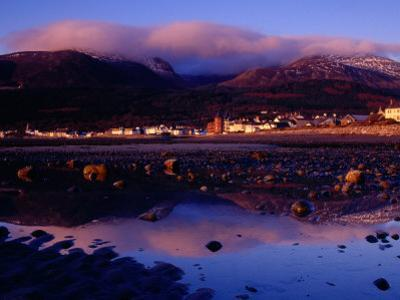 Newcastle Seafront and the Mourne Mountains at Dawn, Newcastle, Northern Ireland by Gareth McCormack