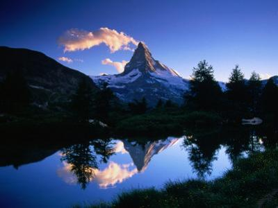 Reflection of the Matterhorn in Waters of Grindjisee, Switzerland
