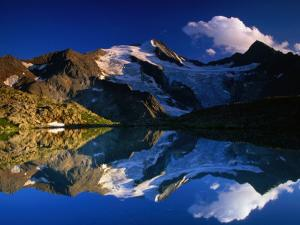 Reflection of Wilder-Freiger on Stubai Hohenweg Walking Route, Tirol, Austria by Gareth McCormack