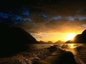Sunrise Over Lake Manapouri, Fiordland National Park, Southland, New Zealand by Gareth McCormack