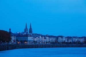 Garonne Riverfront at Dawn, Bordeaux, Gironde, Aquitaine, France