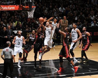 2014 NBA Finals Game Two: Jun 8, Miami Heat vs San Antonio Spurs - Tony Parker by Garrett Ellwood