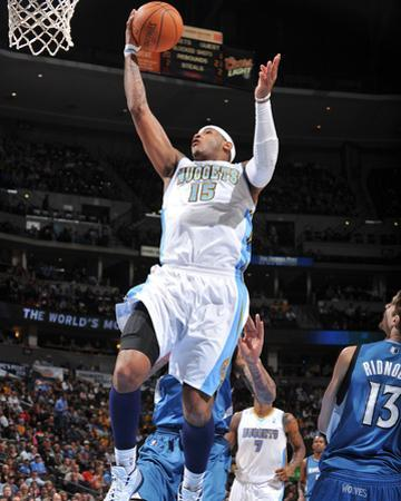 Minnesota Timberwolves v Denver Nuggets: Carmelo Anthony by Garrett Ellwood