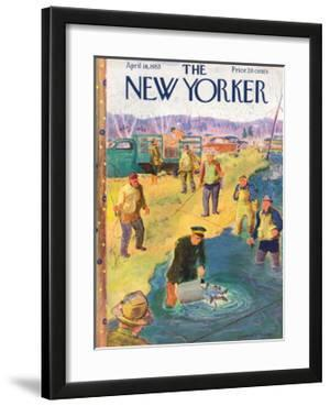 The New Yorker Cover - April 18, 1953 by Garrett Price