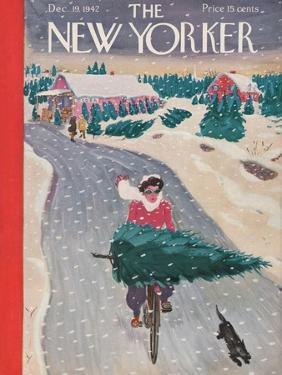 The New Yorker Cover - December 19, 1942 by Garrett Price