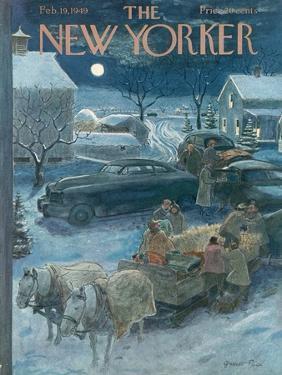 The New Yorker Cover - February 19, 1949 by Garrett Price