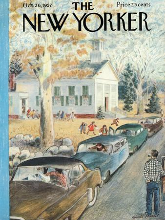 The New Yorker Cover - October 26, 1957 by Garrett Price