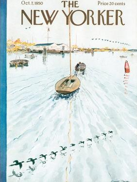 The New Yorker Cover - October 7, 1950 by Garrett Price