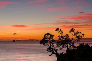 A Dawn Sky Above the Alderman Islands in the South Pacific from New Zealand's Coromandel Peninsula by Garry Ridsdale