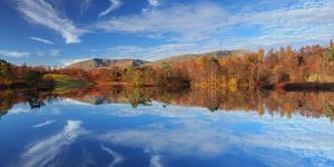 Autumn Colour Reflected in the Still Waters of Tarn Hows in the Lake District National Park by Garry Ridsdale