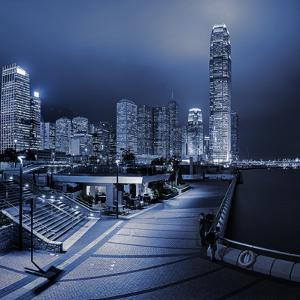 Central and Western District Promenade Leads Through to Skyscrapers on Hong Kong Island by Garry Ridsdale