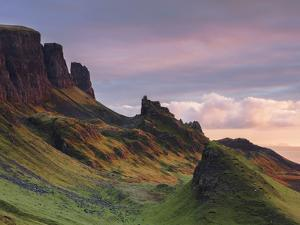 Early morning dawn light hits the Quiraing in the Trotternish peninsula on the Isle of Skye, Inner  by Garry Ridsdale