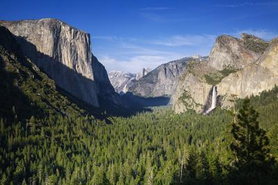 El Capitan and Bridalveil Falls Frame Half Dome and Clouds Rest, Yosemite Valley from Tunnel View