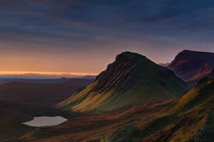 First light of a new morning strikes The Cleat on the Trotternish peninsula, Isle of Skye, Inner He by Garry Ridsdale