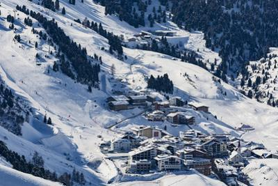 The Austrian Skiing Village of Obergurgl Covered in Winter Snow at the End of the Otztal Valley by Garry Ridsdale