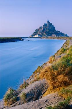 The Couesnon River Leading to the Island of Mont Saint-Michel, UNESCO World Heritage Site, Normandy by Garry Ridsdale