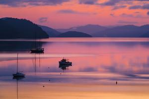The Peaceful and Tranquil Waters of Queen Charlotte Sound at Dawn, South Island, New Zealand by Garry Ridsdale
