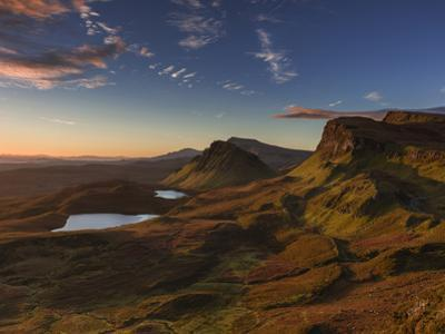 The Trotternish ridge at dawn looking south to the Cleat, and beyond to the Sound of Raasay, Scotti by Garry Ridsdale
