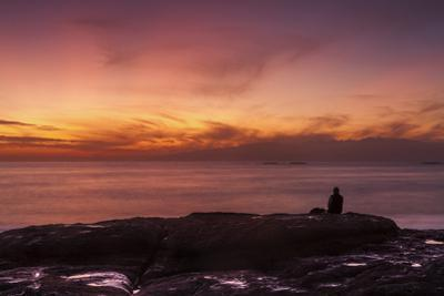 Watching Sunset from the Western Shore of Tenerife in the Canary Islands, Spain, Atlantic, Europe by Garry Ridsdale