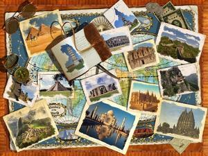 Wonders of the World Postcards by Garry Walton