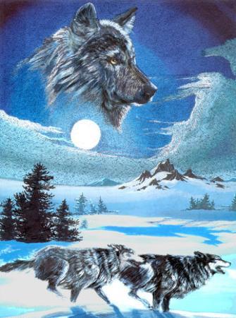 Running Wolves by Gary Ampel