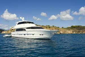 A Luxury Yacht Anchored in the Caribbean. by Gary Blakeley