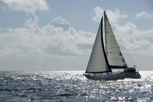 A Sailboat in the Caribbean. by Gary Blakeley