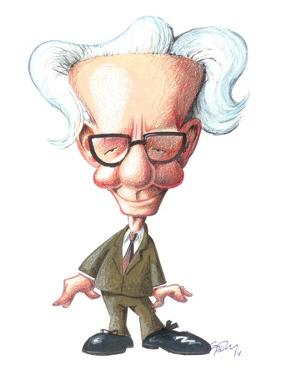 B. F. Skinner, Caricature by Gary Brown