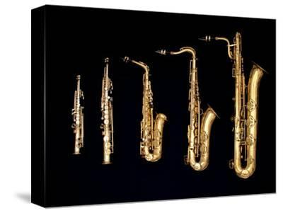 Different Sized Saxophones by Gary Conner