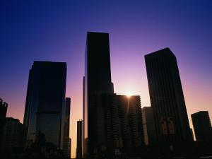 High Rise Buildings LA CA by Gary Conner