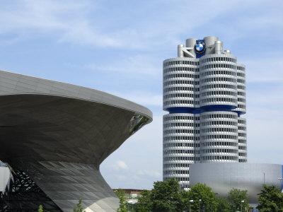 Bmw Welt and Headquarters, Munich, Bavaria, Germany, Europe