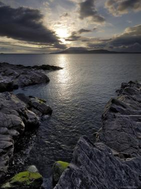 Clew Bay at Dusk Looking Towards Clare Island, County Mayo, Connacht, Republic of Ireland by Gary Cook