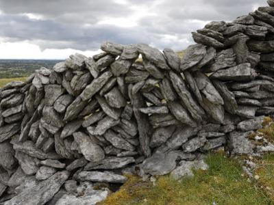Dry Stone Wall on the Burren, County Clare, Munster, Republic of Ireland