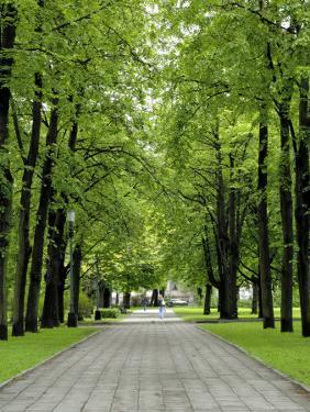 Esplanade, Green Park Near the Russian Orthodox Cathedral, Riga, Latvia, Baltic States by Gary Cook