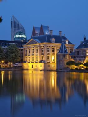 Mauritshuis at Night, Lake Hof Vijver, Den Haag, the Hague, Holland (The Netherlands) by Gary Cook