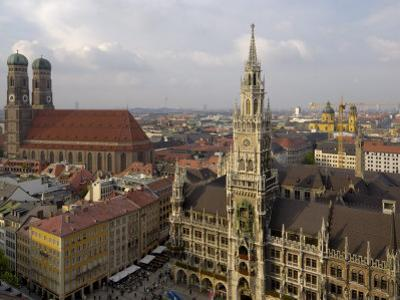 Neues Rathaus and Marienplatz from the Tower of Peterskirche, Munich, Germany
