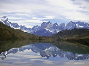 Reflections of the Cuernos Del Paine in a Lake, Torres Del Paine National Park, Patagonia, Chile by Gary Cook