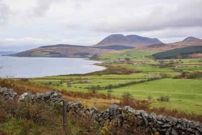 Tormore and Machrie Bay, looking towards Beinn Bharrain, Isle of Arran, North Ayrshire, Scotland, U by Gary Cook
