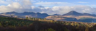 View of Goatfell and the Northern Mountains, Isle of Arran, North Ayrshire, Scotland, United Kingdo